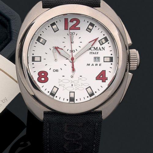 LOCMAN Vers 2010. Ref 130  Modèle homme chronographe quartz en acier. Cadrangri…