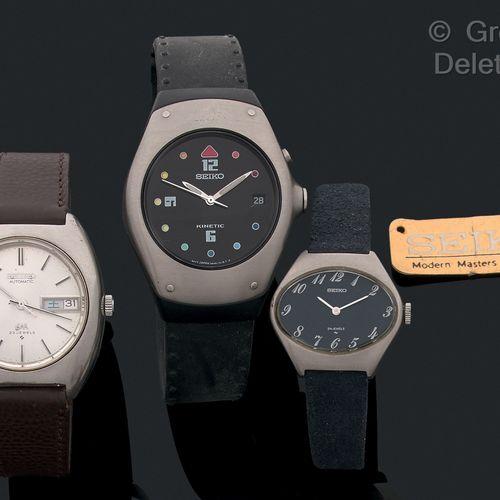 Lot comprenant 3 montres SEIKO  1 Kinetic quartz  1 Mouvement Automatique  1 Mon…