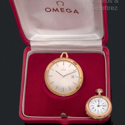 Lot comprenant 2 montres:   OMEGA montre de poche des années 60 dans son écrin …