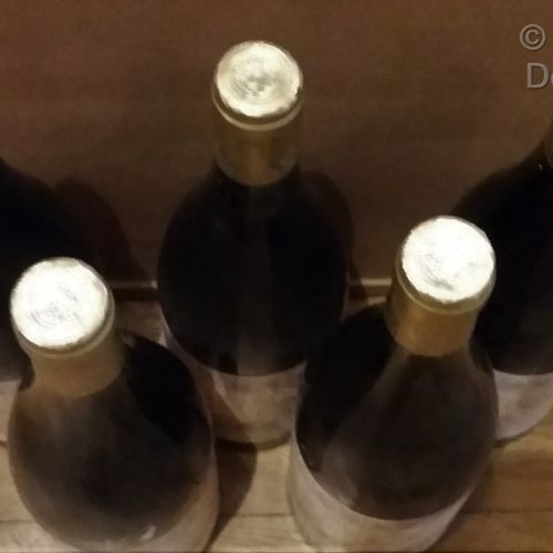 "5 bottles  TOKAJI ""Furmint"" Château PAJZOS 1991 Slightly stained labels. A level…"