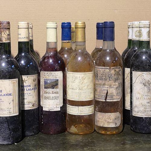 25 bottles  WHITE WINES DIVERS France FOR SALE AS IS Graves, Sauternes, Sainte c…