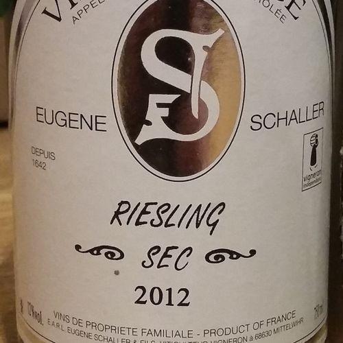 4 bottles  RIESLING Dry E. SCHALLER 2012