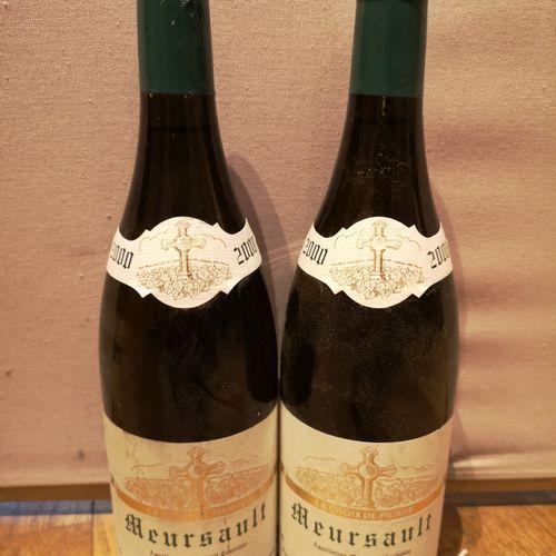 """2 bottles  MEURSAULT """"La Croix de Pierre"""" Masson 2000 Labels slightly stained. C…"""