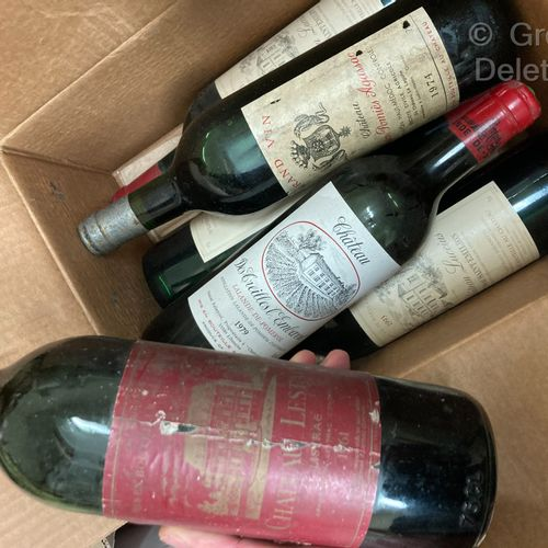 3 bottles  VARIOUS WINES FOR SALE AS IS  Ch. LESTAGE Listrac 1961 Ch. POMIES AGA…