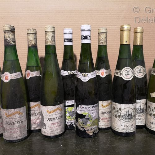 10 bottles  ALSACE WINES FOR SALE IN THE STATE OF THE 80's Domaine JOSMEYER incl…