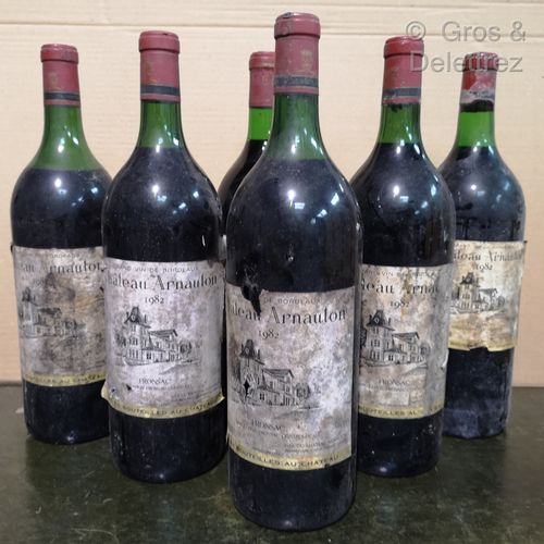 6 magnums  Château ARNAUTON Fronsac 1982 FOR SALE AS IS