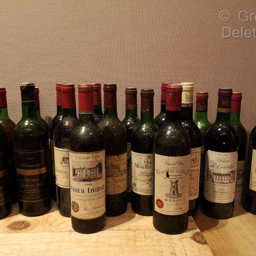 22 Bottles  BORDEAUX (Médoc) MISCELLANEOUS FOR SALE AS IS Château LIVERSAN 1960,…