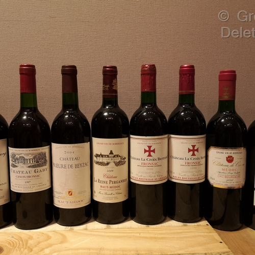 8 Bottles  VARIOUS BORDEAUX (Médoc and Fronsac) Vintages from 1997 to 2010 FOR S…