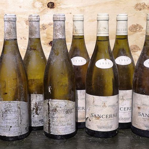 12 bottles  SANCERRE white FOR SALE AS IS 6 Domaine MERLIN CHERRIER 1999; 4 Doma…