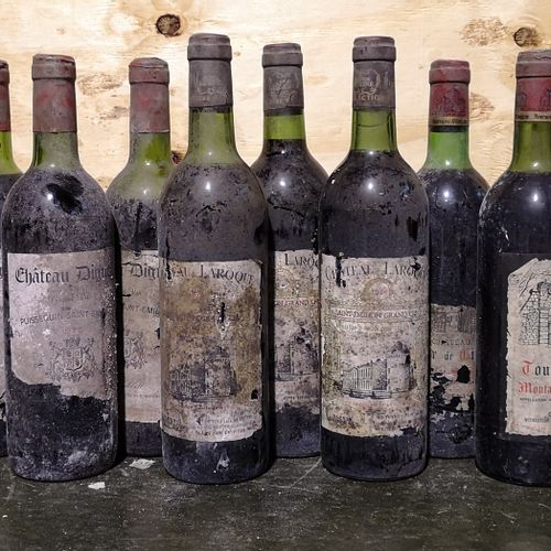 12 bottles  MISCELLANEOUS BORDEAUX FOR SALE AS IS 3 Ch. LAROQUE Saint Emilion Gr…