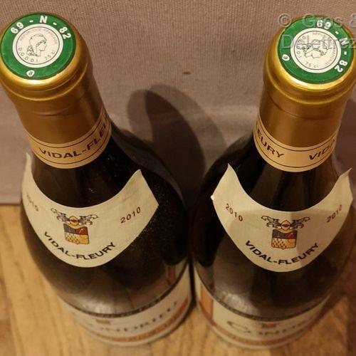 2 bottles  CONDRIEU VIDAL FLEURY 2010