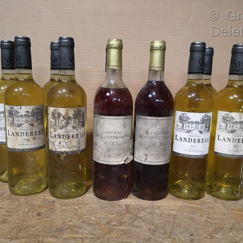 12 bottles  MISCELLANEOUS WINES France FOR SALE AS IS 10 bottles of Ch. LANDEREA…