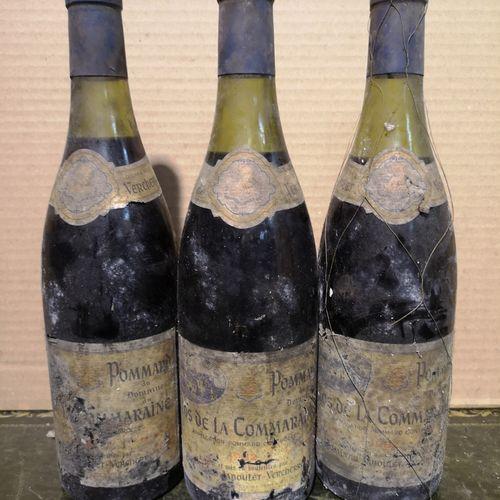 """3 bottles  POMMARD 1er cru """"Clos de la Commaraine"""" Jaboulet Vercherre 1982 Stain…"""