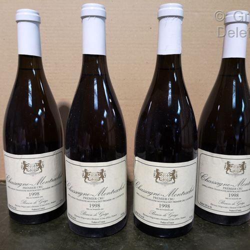 4 bottles  CHASSAGNE MONTRACHET 1er cru Baron de GREGE 1998