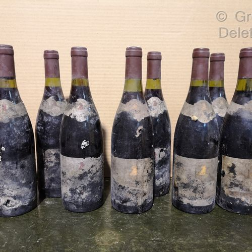 10 bottles  BOURGOGNERS DIVERS ANNEES 80' FOR SALE AS IS Jaboulet Vercherre Dont…