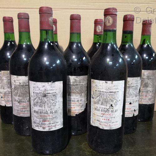 9 magnums  Château BEAU RIVAGE de By Médoc 1978 FOR SALE AS IS