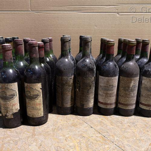 30 bottles  VARIOUS BURGUNDIES FOR SALE AS IS  Ch. HAUT GUIRAUD Côtes de Bourg 1…