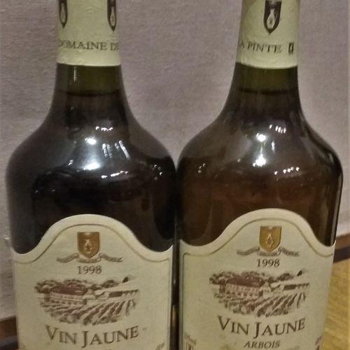 """2 bottles  ARBOIS """"Vin Jaune"""" Domaine de La PINTE 1998"""