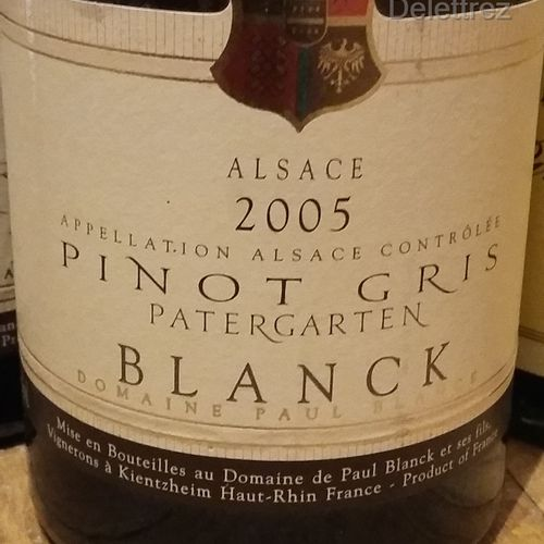 "4 bottles  ALSACE WINES FOR SALE AS IS : 2 Pinot Blanc ""Vieilles Vignes"" 2011 Mi…"