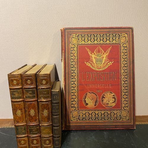 Lot of 5 books including the Universal Exhibition of 1878, Letters from MMobilie…