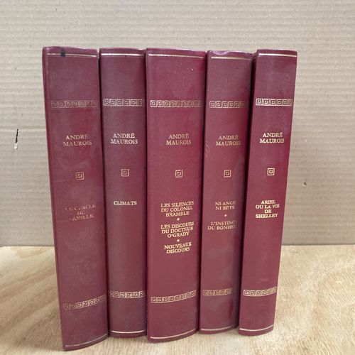 André MAUROIS  5 volumes in red, published by Rombaldi