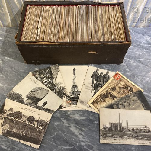 Lot of old postcards Paris, provinces.