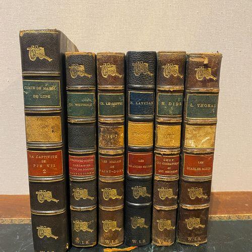 Militariat Lot of 10 miscellaneous books, including La France et son Empire dans…
