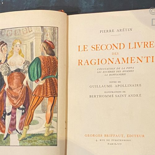 Pierre ARETIN Ragionamenti, 2 volumes. Illustrations by Berthommé Saint André. P…