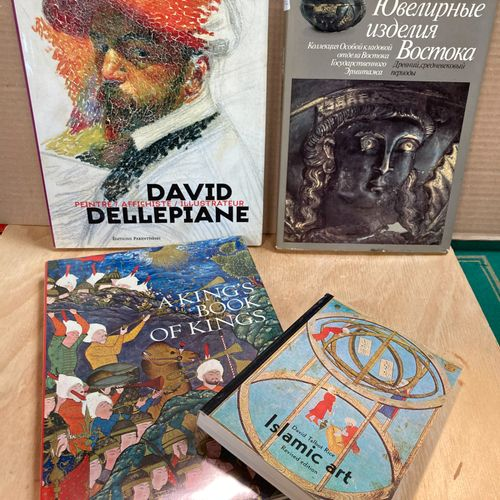 Lot of four books including two on Islamic arts and a monograph by David Dellepi…