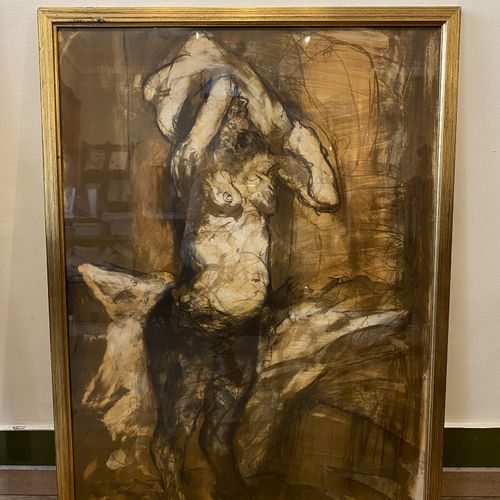 Claude WEISBUCH (1927 2014)  Woman undressing  Lithograph signed and numbered 21…