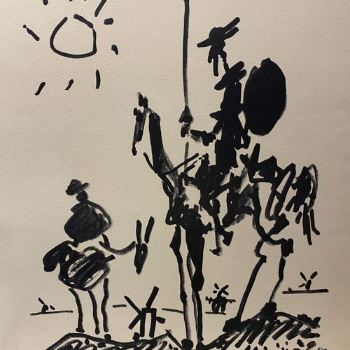 After Pablo Picasso  Don Quixote  Reproduction on paper, Combat pour la Paix edi…