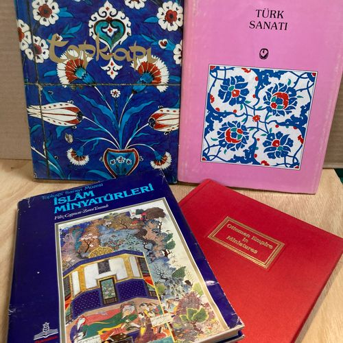 Set of four books on Islamic arts