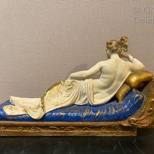 After Antonio CANOVA  A plaster sculpture of Pauline Borghese Bonaparte as a rec…