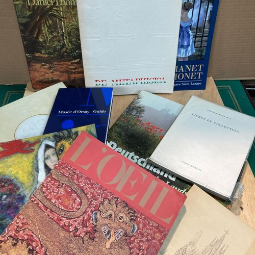 Lot of various art books, including Manet, Chagall, De Metaphisica exhibition, A…