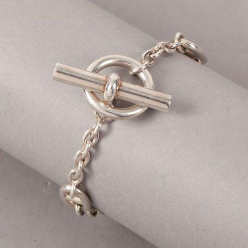 HERMES Paris  *Bracelet «Farandole» en argent 925millièmes, fermoir bâtonnet. P…