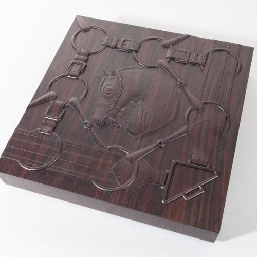 HERMES Paris made in Indonesia  *Boîte «Reliefs de Tatersale» en palissandre de …