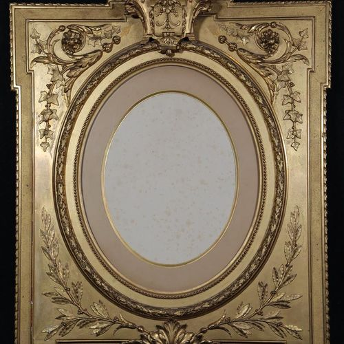 CADRE en bois doré de style Louis XVI d'époque fin XIXe siècle de forme rectangu…