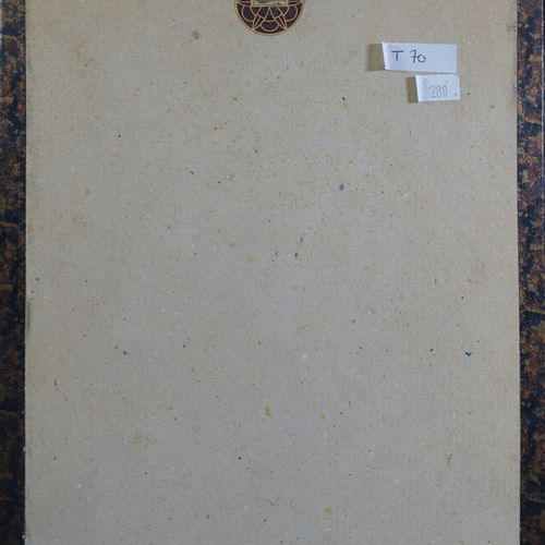 """BAC Ferdinand (1859 1952) : """"L'ancien bandit sicilien de 1840"""". Aquarelle signée…"""