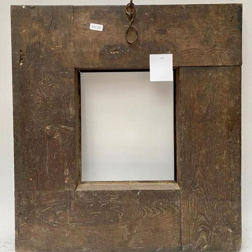 CADRE à profil renversé en placage de noyer avec un anneau ancien. Pays Bas, XVI…
