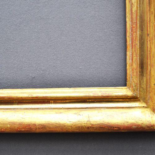 CADRE en bois mouluré et doré  Provence, XVII XVIIIème siècle  85,5 x 68 x 9 cm