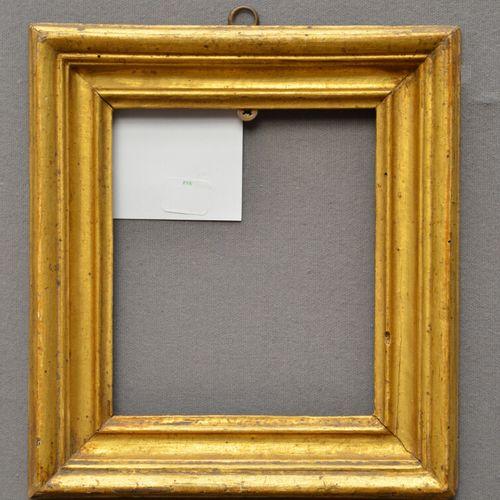 """CADRE dit """"Salvator Rosa"""" en bois mouluré et doré  Italie, XVIIème XVIIIème sièc…"""
