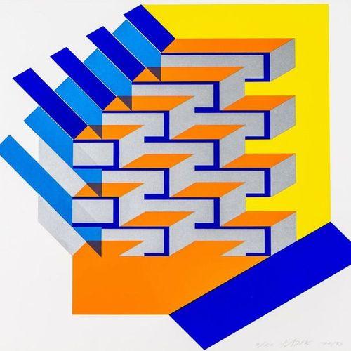 Hajek, Otto Herbert 1927 Holoubkau 2005 Stuttgart. Color Serigraphy. Untitled. S…