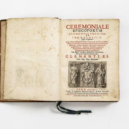 Ceremoniale Episcoporum Clementis Papae VIII and Innocentii X. Rome, 1713. With …