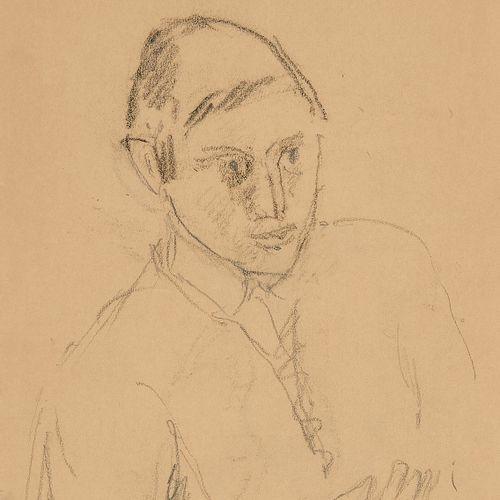 René Auberjonois (1872 1957)  Portrait du sculpteur Jean Clerc, crayon sur papie…