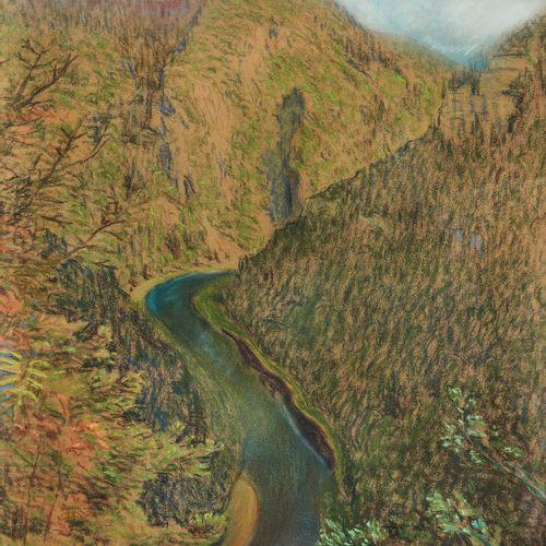 Charles L'Eplattenier (1874 1946)  Le Doubs, pastel sur papier, signé, daté 1919…