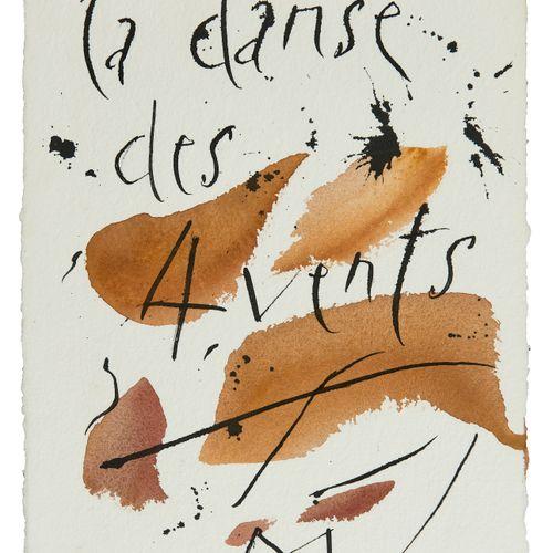 Rudolf Mumprecht (1818 2019)  La danse des 4 vents, encre et aquarelle sur papie…