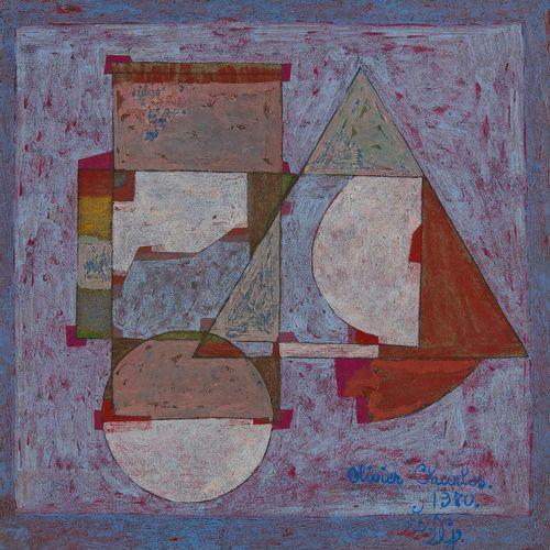 Olivier Charles (1931 2013)  Le DG, huile sur papier, signée, titrée et datée 19…