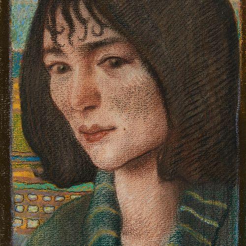 Charles Clos Olsommer (1883 1966)  Portrait d'une jeune femme, pastel sur papier…