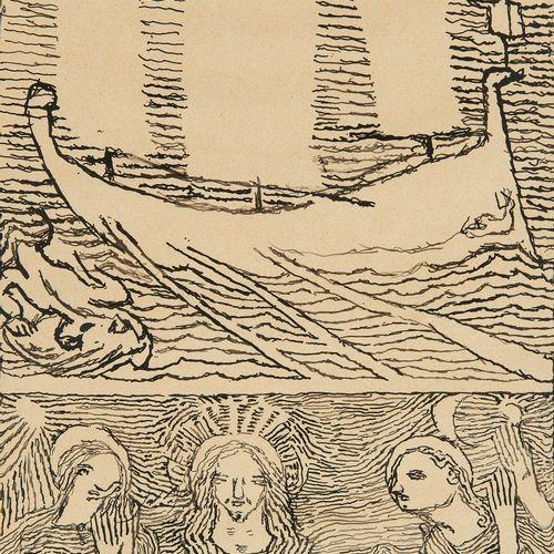 Louis Soutter (1871 1942)  Le vaisseau aux voiles calmes Christ, Marie, Madelein…