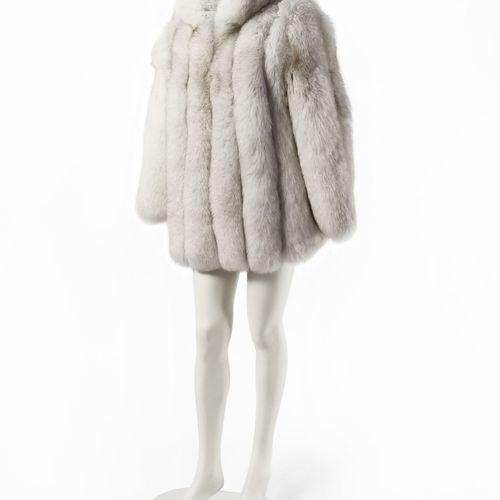 Twenty Fall, manteau court  Fourrure de renard argenté, fermeture à crochets, po…